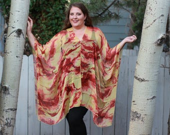 Sunset Shawl Top - Silk