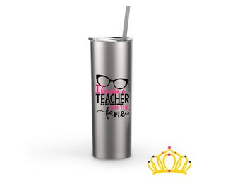 Funny Teacher Gift, Teacher Water Bottle, Teacher Appreciation Gift, End of Year Gift for Teacher, Teacher Graduation Gift