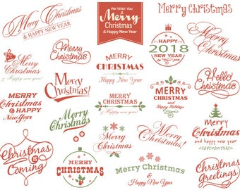 Instant Download Merry Christmas Clipart Christmas Scrapbook Decor Christmas Digital Photo Overlay Christmas Wording Clip Art 0359