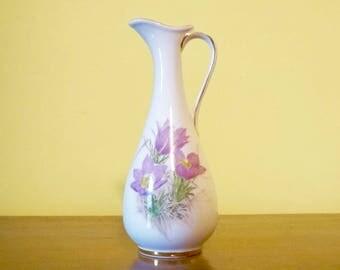 Bone China; Made in Canada; Decanter Vase; Approx. 3 x 6 in. Prairie Crocus !!!