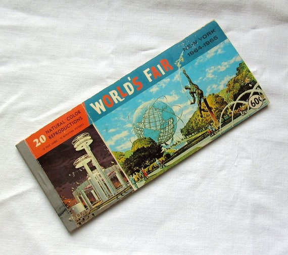 World's Fair 64-65 New York Souvenir Postcard Book