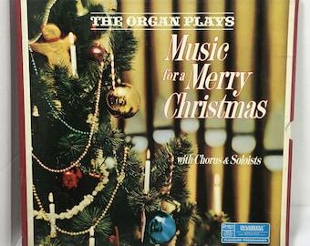 The Organ Plays Music For A Merry Christmas 4xLP vinyl records VG+ Reader's Digest Reginald Dixon, Virgal Fox, Dick Leibert, William Davies