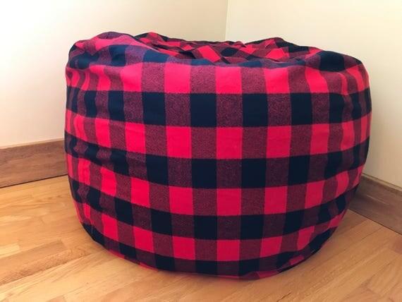 Like this item? - Bean Bag Chair Cover. Buffalo PLAID. Lumberjack. Bean Bag
