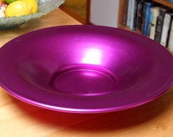 Vintage MCM Anodised Purple Large Fruit Bowl