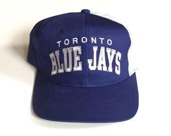 Vintage Toronto Blue Jays starter arch Snapback MLB Baseball Snap back hat cap Adjustable Twill One Size fits all adult unisex