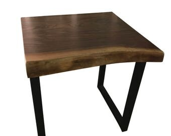 Live edge Walnut wood End Table, Entry Way Table, End Table for Living Room
