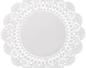 "200 ct. 5"" White Cambridge Paper Lace Doilies Wedding Doilies Party Decor Gift Wrap"
