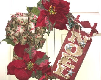 Christmas Red Snow Sled Wreath