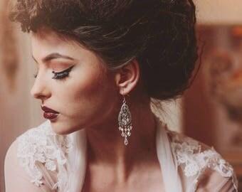 Swarovski bridal earrings, chandelier earrings, statement wedding earrings, crystal bridal jewelry