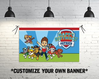 Custom Paw Patrol Birthday Banner