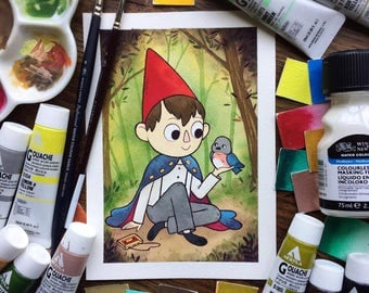 Over the Garden Wall WIRT Watercolor PRINT by Michelle Coffee
