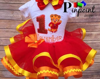 Danile tiget tutu set / outfit  100% made from scratch