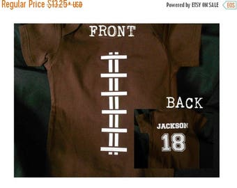 ON SALE Custom Football Baby Bodysuit or Kid's T-Shirt