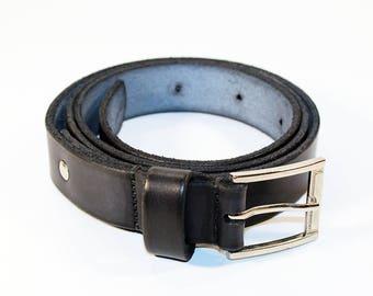 Black Leather Belt ,Leather Belt , Handmade Belt,Great Gift. Black belt.