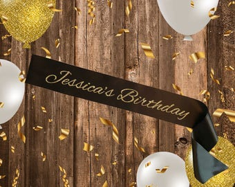 BLACK SASH Custom Birthday Script