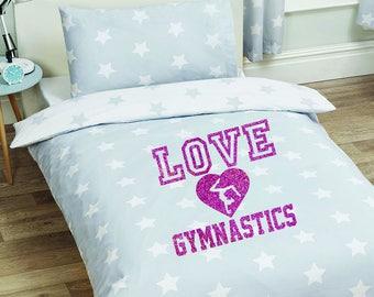 Blanket Size LOVE GYMNASTICS Iron On Decal