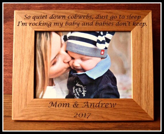 Baby picture frame new mother new mom personalized picture baby picture frame new mother new mom personalized picture frame new mom gift quiet down cobwebs baby boy girl custom baby shower gift from negle Choice Image