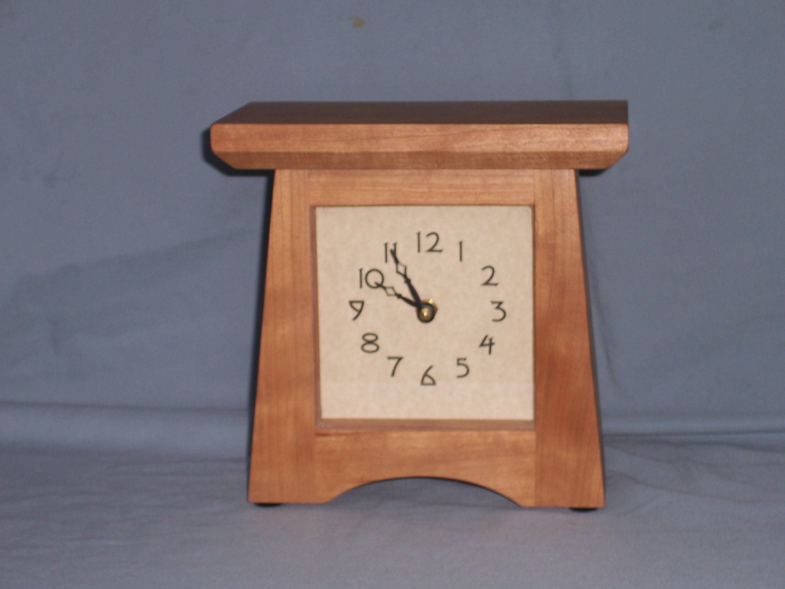 Reduced craftsman clock mantle clock cherry mission style details handcrafted classic craftsmenmission clock amipublicfo Gallery