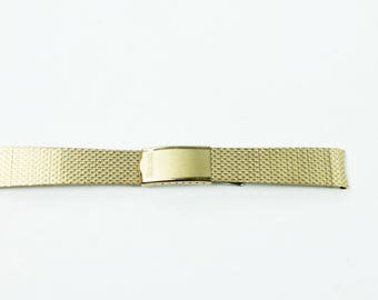 Vintage BULOVA 18mm Watch Band Gold Filled 10K GF Mens Wristwatch Finesse USA