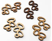 2 Falling Beans beads: in Maple, Cherry, Walnut or Bamboo