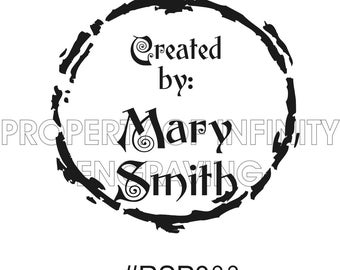 Personalized - Created by - Rubber Stamp