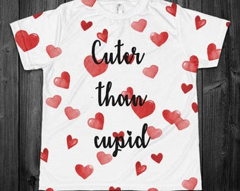 Cuter Than Cupid Youth All Over Shirt - YOUR COLOR