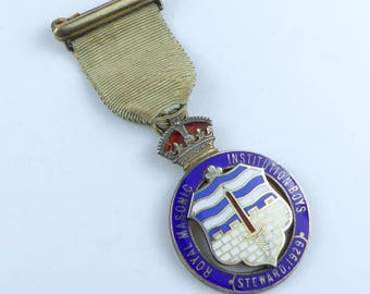 Masonic Silver stewards jewel RMIB 1929 - beautiful condition