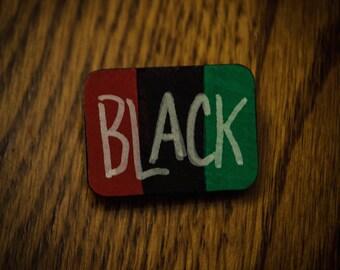 BLACK Wood Pin
