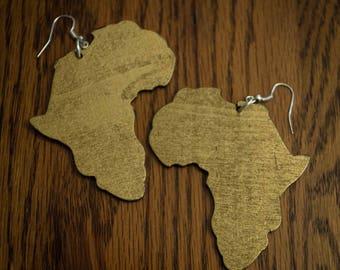Gold Africa Earrings