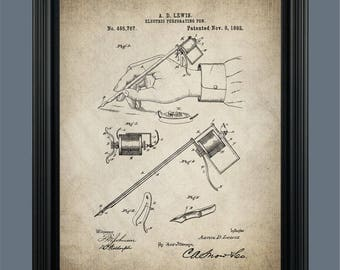 Tattoo parlor etsy for Vintage tattoo art parlor