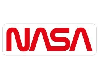 NASA Worm Logo Stickers