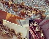 Clunky Classic Vintage Charm Bracelet