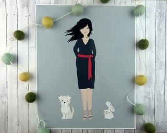Personalised pet portrait, custom pet portrait, gift for dog lover, gift for dog owner, dog portrait custom, Personalised dog, PRINT ONLY