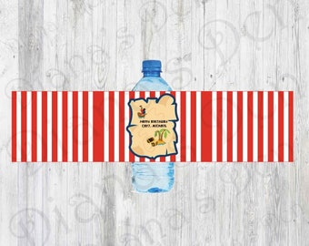 Pirate Bottle Labels/Water Bottle Labels/Water Wrap/Pirate Party/Pirate Birthday/Boy Party/Girl Party