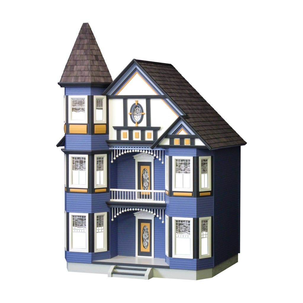 Dollhouse Kit Diy Dollhouse The Painted Lady Unfinished