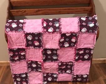 Owls Infant Rag Quilt
