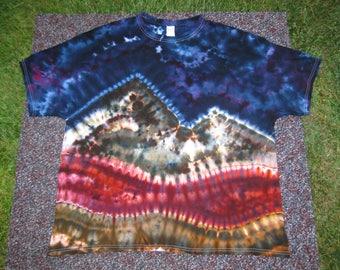 tie dye shirt, 3XL, nature shirt, landscape, colorado mountains, night