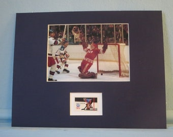 The Miracle on Ice - 1980 Winter Olympics in Lake Placid  - the US Beats Russians in Hockey honored by the Olympic Hockey stamp