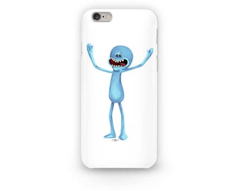 Mr Meeseeks Phone Case Design from Rick and Morty. Look at me can do. Meeseeks Box Phone Case available for all iphone models