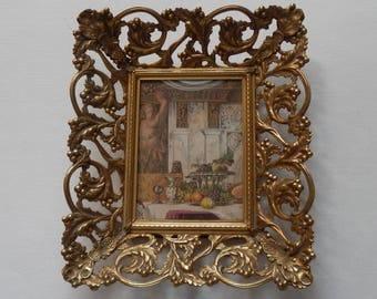 Beautiful Ornate Vintage Frame and Print!