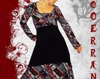 Overall asymmetric tunic, bolero and harem pants 'God save Fashion...'