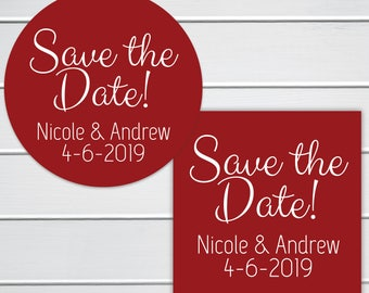 Save The Date Sticker, Wedding Invitiations Sticker, Wedding Stickers, Wedding labels (#136-SS)