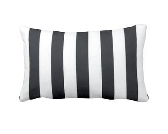 One 12x16 Lumbar Pillow Cover Throw Pillow Decorative Pillow Black Pillow Stripes Black Home Decor Sofa Pillow Toss Pillow Black and White