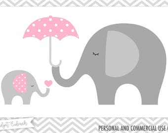 Baby shower clipart, Elephant clipart, Baby elephant clipart, Elephant clip art, baby clipart, Commercial Use, INSTANT DOWNLOAD