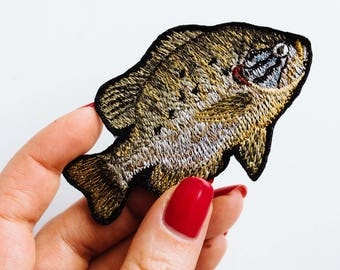"Embroidered Brooch ""Perch"""