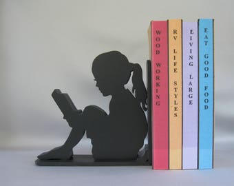 Girl Reader Silhouette Bookend - 19.95