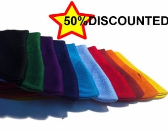 50%Discounted  100 Cotton Lisle Mid calf Premium Plain Dress Socks Solid Colors US 8-9