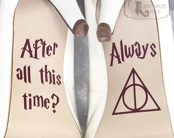 After All This Time / Always Wedding Shoe Decals, High Heel Decals, Shoe Decals for Wedding, Wedding Shoe Decals, Harry Potter Shoe Decals