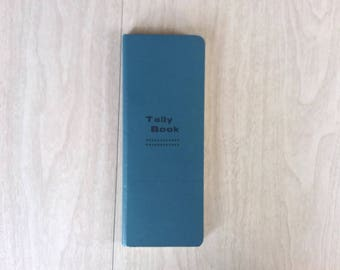 Vintage Blue Tally Book