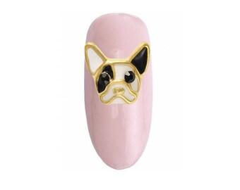 French Bulldog Nail Charm 2 pcs / Nail Art / Nail Design / Puppy / Dog